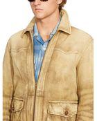 Ralph Lauren Leather Hemmingway Jacket - Lyst
