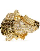 Kenneth Jay Lane Crystal Pavé Strass Crocodile Bangle - Lyst