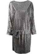 Lanvin Vintage Metallic Print Dress - Lyst