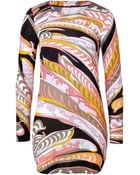 Emilio Pucci Printed Jersey Dress - Lyst