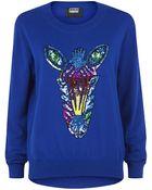 Markus Lupfer Rainbow Sequin Zebra Sweater - Lyst