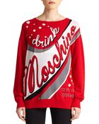 Moschino Wool Logo Sweater - Lyst