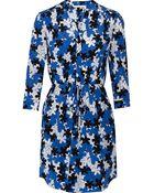 Diane von Furstenberg Freya Floral-Print Silk Mini Dress - Lyst