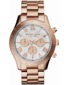 Michael Kors Ladies Layton Glitz Mid-Size Chronograph Watch - Lyst