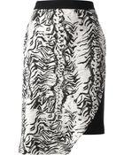 Emanuel Ungaro Zebra Print Skirt - Lyst