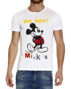 Iceberg T-Shirt Half Sleeve Print Mickey - Lyst