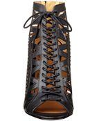 Nine West Angellica Gladiator Booties - Lyst