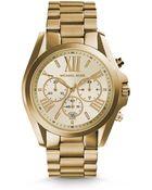 Michael Kors Bradshaw Gold-Tone Watch - Lyst