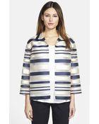 Lafayette 148 New York Women'S 'Griffin - Seine Stripe' Organza Jacket - Lyst