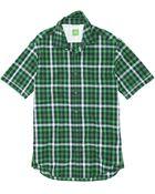 Boss Green Bastiano | Regular Fit, Short Sleeved Stretch Cotton Check Print Button Down Shirt - Lyst