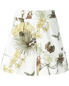 Etro Floral Butterfly Bird Print Shorts - Lyst