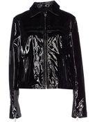 John Galliano Leather Outerwear - Lyst