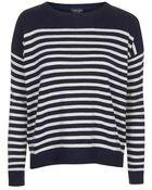 Topshop Breton Striped Jumper - Lyst