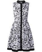 Oscar de la Renta Floral Day Dress - Lyst
