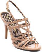 Jessica Simpson Primrose Metallic High-Heel Sandals - Lyst
