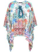 Etro Printed Silk-Chiffon Top - Lyst