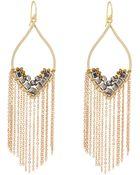 Panacea Hematite Chain Fringe Drop Earrings - Lyst