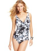 Inc International Concepts Floral-Print Crisscross One-Piece Swimsuit - Lyst