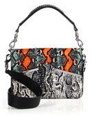 McQ by Alexander McQueen Rosie Python & Leather Shoulder Bag - Lyst