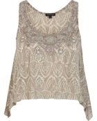 River Island Embellished Sleeveless Crop Top - Lyst