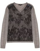 Tibi Chantilly Lace Sweater - Lyst