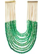 Rosantica Raissa Green Agate Multi-Row Bib Necklace - Lyst