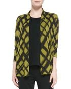 Caroline Rose Abstract Argyle Cardigan - Lyst