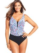 Gottex Plus Size Printed One-Piece Swimsuit - Lyst