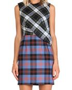 McQ by Alexander McQueen Drape Top Dress - Lyst