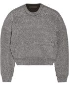 Alexander Wang Metallic Stretch-Knit Sweater - Lyst