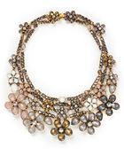 Erickson Beamon 'Sound Garden' Crystal Flower Bib Necklace - Lyst