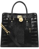 Michael Kors Hamilton Large Hair Calf And Embossed-Leather Tote - Lyst