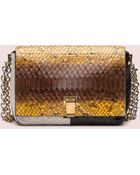 Proenza Schouler Ps Courier Double-Chain Python Small Shoulder Bag - Lyst