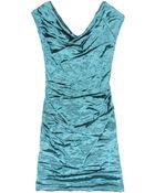 Nicole Miller Jorden Techno Metal Dress - Lyst