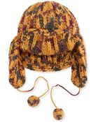 M Missoni Tritone Knit Trapper Hat - Lyst
