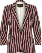River Island Navy Stripe Tailored Structured Jersey Blazer - Lyst