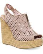 Steve Madden Olivvia Platform Wedge Sandals - Lyst