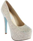 Betsey Johnson Wish Crystal Embellished Pumps - Lyst