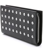 Alexander Wang Prisma Large Zip Around Wallet With Eyelets - Black - Lyst