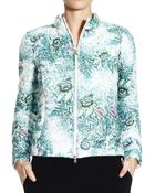 Patrizia Pepe Jacket Coat Light Printed Floral - Lyst