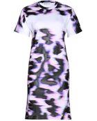 Balenciaga Printed Cotton Tshirt Dress - Lyst