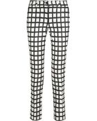 Michael Kors Samantha Ikat Duchesse Skinny Pants - Lyst