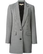 Michael Kors Houndstooth Pattern Jacket - Lyst