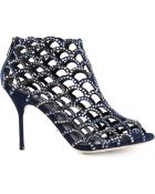 Sergio Rossi Crystal Embellished Sandals - Lyst