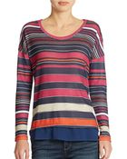 Jessica Simpson Block Striped Pullover - Lyst