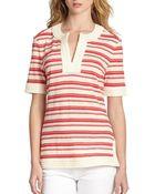 Tory Burch Lisa Striped Linen Top - Lyst
