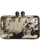 La Regale Metallic Splatter Minaudiere - Lyst