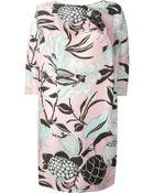 Antonio Marras Graphic Floral Print Dress - Lyst