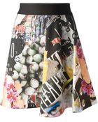 Pinko Print Skirt - Lyst