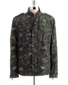 Kenneth Cole Camoflauge Military Jacket - Lyst